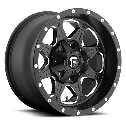 (17x9 Fuel Offroad Wheels Boost D534 8x170-12 Offset 125.2 Centerbore - Black/Milled   P# D53417901745   WHEELS ONLY   NEW   AUTHORIZED DEALER )