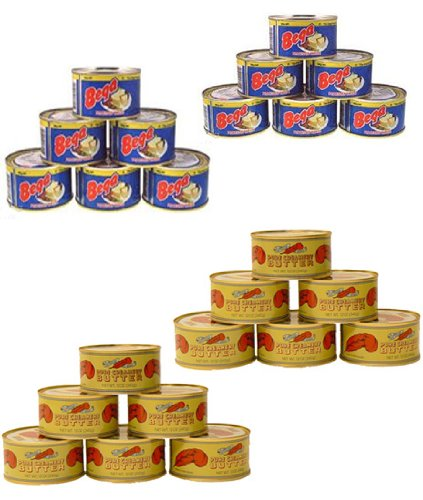 Red Feather Real Canned Butter (12 Cans) & Bega Real Canned Cheese (12 Cans) COMBO (24 Cans Total) by Red Feather & Bega Made in Australia (Image #1)