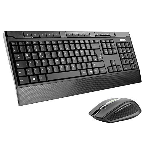 Anker CB310 Full-Size Ergonomische Kabellose Deutsche Tastatur und Maus - wasserdichtes und flüsterleises Tastaturdesign