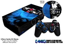 Demon Skull Design Decal Skin Sticker for Sony Playstation 2 PS2 Console