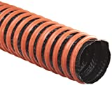 Flexaust FSP-1 Polyester Duct Hose, Black, 6'' ID, 25' Length