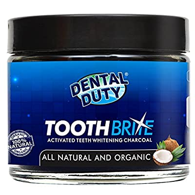 Natural Activated Teeth Whitening Charcoal - Made in USA - Coconut Tooth and Gum Powder for Whiter Stronger Healthier Teeth. More Effective Than Tooth Whitener Strips, kits and Toothpaste.