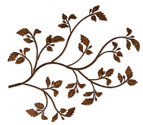 Branch Metal Wall Art (Uttermost 13435 35-Inch by 47-3/4-Inch Rusty Branch Metal Wall Art)