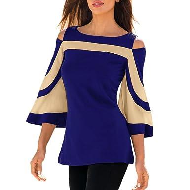 Lange Bluse Shirt Top Langarm Hemd Oversize bunt Damen Casual Trend NEU Größe