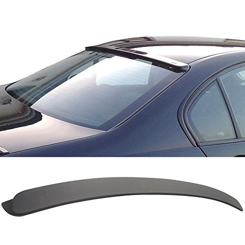 Ac Rear Spoiler - Pre-Painted Roof Spoiler Fits 1999-2005 BMW E46 3 Series 4Dr | AC-S Style Matte Black ABS Rear Wind Visor Spoiler Wing Other Color Available by IKON MOTORSPORTS | 2000 2001 2002 2003 2004