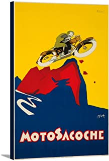 product image for Motosacoche Vintage Poster (artist: Nizzoli) Italy c. 1927 (24x36 Gallery Wrapped Stretched Canvas)