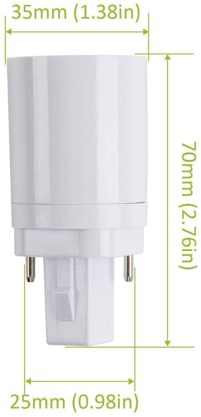 Starnearby G24 a E27 Adattatore per lampadina alogena LED CFL