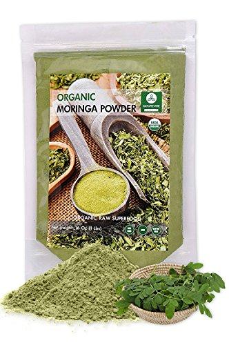 Moringa Green Leaf Powder (1 Pound), Organic Raw-Gluten-Free & Non-GMO
