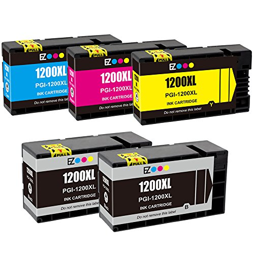 E-Z Ink (TM) Compatible Ink Cartridge Replacement For PGI-1200 XL PGI-1200XL PGI1200XL High Yield (2 Black, 1 Cyan, 1 Magenta, 1 Yellow) 5 Pack Works With MAXIFY MB2020 MB2320