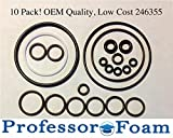 (10 Kits) 246355 Fits Graco Fusion O-Ring Rebuild Kit for Air Purge from Professor Foam