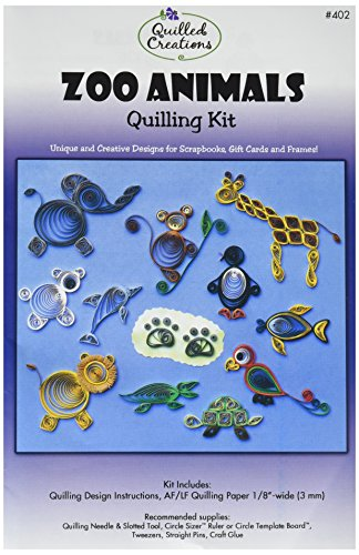 Quilled Creations Zoo Animals Quilling Kit