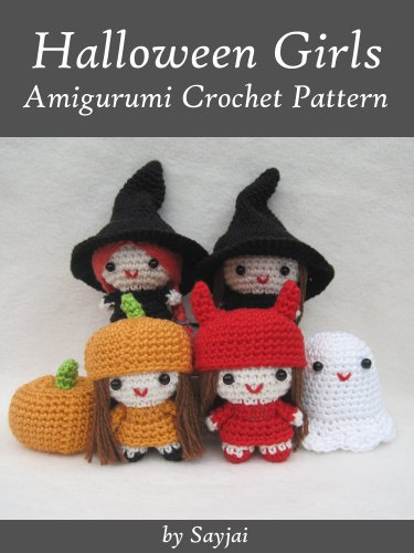 Halloween Girls Amigurumi Crochet Pattern (Easy Crochet Doll Patterns Book 6) -