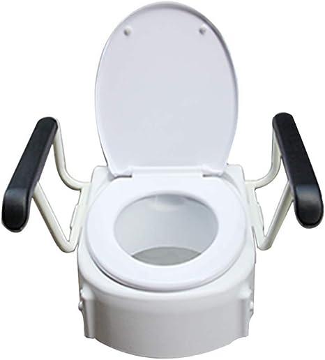 Sedile Rialzato Per Wc.Sedile Rialzato Per Wc Mobile Toilette Portatile Sedile Per Toilette Per Anziani Disabili Donne Incinte Postoperatorie Con Imbottitura Universale Color White Amazon It Salute E Cura Della Persona