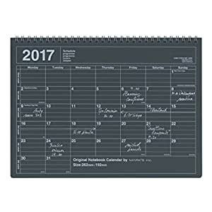 MARK'S 2017 Tischkalender M // Black