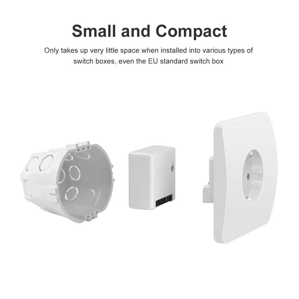 Interruptor inteligente inal/ámbrico WiFi para Casa Inteligente,Funciona con Alexa Google Home Assistant Sonoff MINI