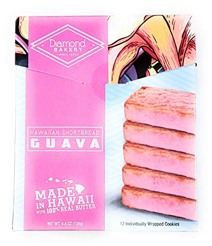 - Diamond Bakery Hawaiian Shortbread Guava Cookies 4.4 oz