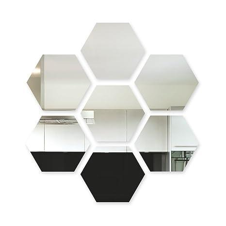 50 X 80 mm Espejo en forma de estrella 3mm Acrílico Arte de Pared Dormitorio Habitación De Juguete