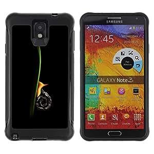 Be-Star único patrón Impacto Shock - Absorción y Anti-Arañazos Funda Carcasa Case Bumper Para SAMSUNG Galaxy Note 3 III / N9000 / N9005 ( Snail Vertical )