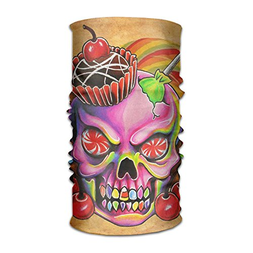 Price comparison product image Sweet Skull 16-in-1 Magic Scarf, Face Mask, fishing Mask, Thin Ski Mask, Neck Warmer Balaclava Bandana For Raves, Dust, Riding Bike, Motorcycle, Outdoor Activities