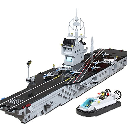 [Enlighten Military Series the Aircraft Carrier Mini Figures Building Blocks Toy for Child / 1000 pieces] (Ready For Action Military Costume)