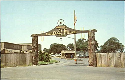 Far Horizons 49'er Trailer Village Plymouth, California Original Vintage Postcard