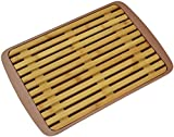 toaster crumb tray - Surpahs Bamboo Fiber Bread Cutting Board with Crumb Catcher Tray (12 by 9 Inches)