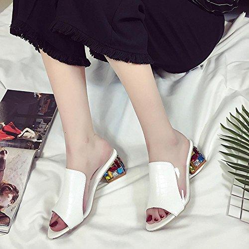 Sandali 34 Donna EU 5 Bovake White Black Nero dwF5SIq