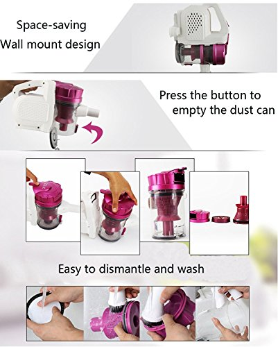 Professional Lightweight 2-in-1 Cordless Hand Vacuum Portable Handheld Vacuum Cleaner for Home Office Car US STOCK by Mewalker (Image #8)