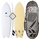 SBBC ||- Surfboard -||- 5'8 Mahi Hybrid Surfboard -||- Wax Free Surfboards -||- Performance Focused Surf Board Includes Soft Top/Hard Bottom Hybrid Surfboard -||- Package Options Available -||