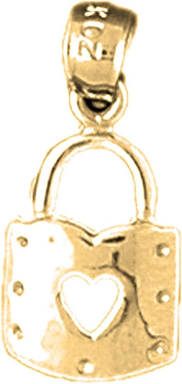 Lock Pendant 14k Yellow Gold Heart Padlock