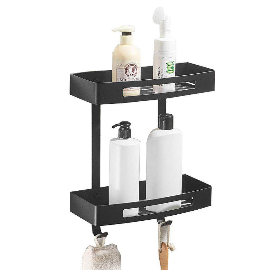 HTTDIAN パンチフリー洗面器ブラックバスルームトイレ304ステンレス鋼シャワールームバスルームの棚の壁 B07TSZ3576