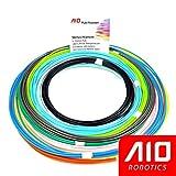 AIO Robotics Sample PLA 3D Pen/Printer Filament, 16 colors, 10 foot per color, Dimensional Accuracy +/- 0.02 mm, 1.75 mm