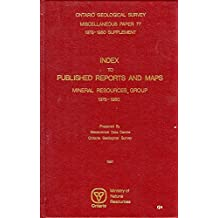 INDEX TO PUBLISHED REPORTS AND MAPS- MINERAL RESOURCES GROUP MISC PAPER 77 1978-1980 SUPPLEMENT