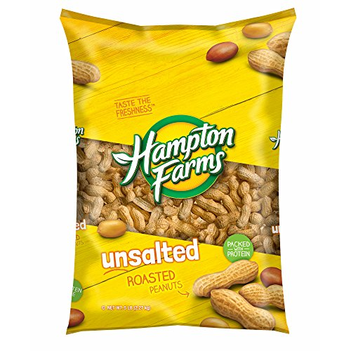 Hampton Farms Unsalted Roasted In-Shell Peanuts, 5 lbs. (pack of 2) by Hampton Farms