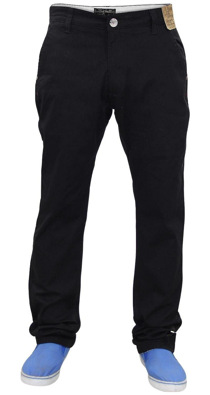 TALLA 32W / 34L. Jacksouth Nuevo Hombre diseñador Regular Fit Pantalón Stretch algodón Rico Sarga Chino