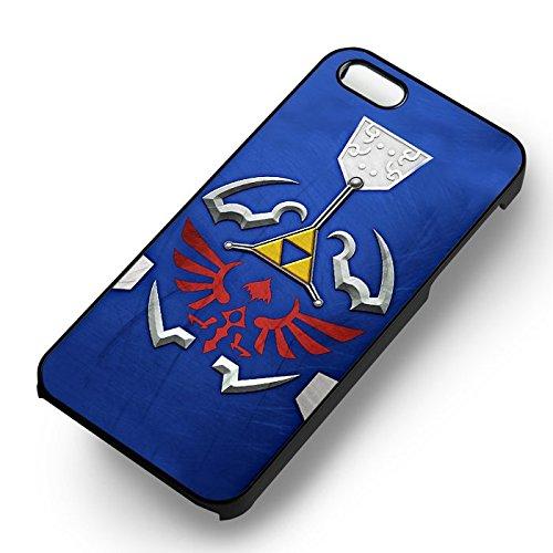The Legend of Zelda Hylian Shield pour Coque Iphone 6 et Coque Iphone 6s Case (Noir Boîtier en plastique dur) I5I3UT