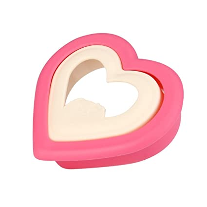 Gessppo Molde de pastel Hot Heart Hearted Shape Sandwich Bread Toast Maker Mold Mould Cutter DIY