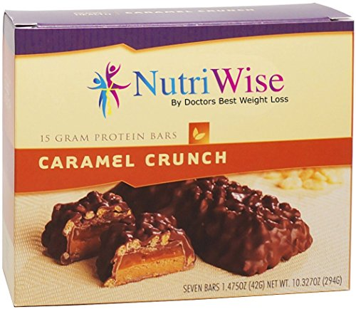 NutriWise - Caramel Crunch Diet Protein Bars (7 bars)
