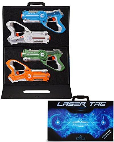 Dynasty Laser Tag Set for Kids, Extreme Multiplayer Pack (4 Blasters) -...