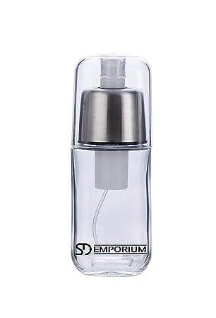 SD Emporium - Rociador de Aceite Premium de Vidrio Duradero con Filtro Anti-obstrucción y