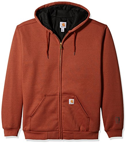 Sweatshirt Thermal Carhartt (Carhartt Men's Big B&t Rain Defender Rutland Hooded Zip Front Sweatshirt, Sequoia Heather, 3X-Large/Tall)