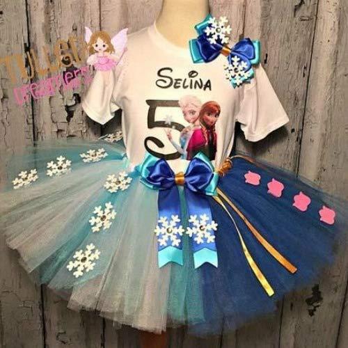 Frozen Elsa & Anna Birthday Tutu Outfit