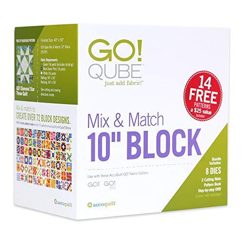 - AccuQuilt GO! Fabric Cutting Dies; GO! Qube Mix & Match 10