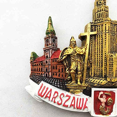 Warsaw Poland Nightlife City View Cool Gift #16363 Awesome Fridge Magnet