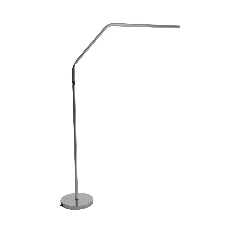 Daylight Slimline LED Floor Lamp, Brushed Chrome