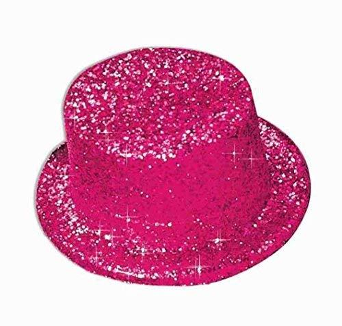 Pink Top Hats - Forum Novelties 51954 Unisex-Adults Glitter Top