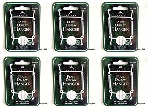 (Ship from USA) (6) Plate Hangers 3-1/2'' - 5'' WHITE Wire Display Easel Tripar 32-1301 SIX PACK *JPOU842H5ET112317 by White
