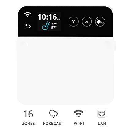 RainMachine Pro-16, Cloud Independent, Touch, 16 Zones Wi-Fi/Ethernet  Irrigation Controller, Compatible with Alexa