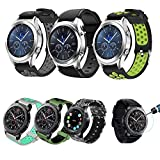 Samsung Gear S3 Frontier/Classic Watch Bands 22mm Solid Stainless Steel Metal Business Replacement Silicon Bands Samsung Gear S3 Frontier / S3 Classic Sports Smart Watch Fitness (S3-6 Pack)