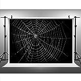 Maijoeyy 7ftx5ft Halloween Spider Web Photography Backdrop Customized Photo Background Studio Prop 151934447CWB